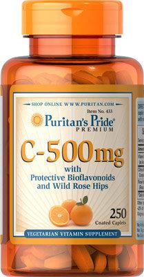 Puritan's Pride Vitamin C-500 mg/ 250 Caplets