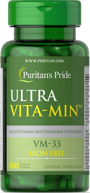 Puritan's Pride Ultra Vita-Min™ Iron Free Multivitamins VM-33/ 100 Caplets