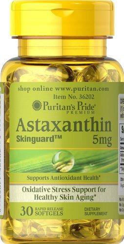 Puritan's Pride Natural Astaxanthin 5 mg/ 30 Sgels