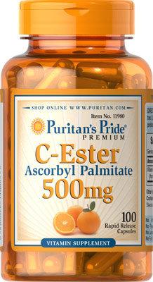 Puritan's Pride C-Ester 500 mg/ 100 Capsules
