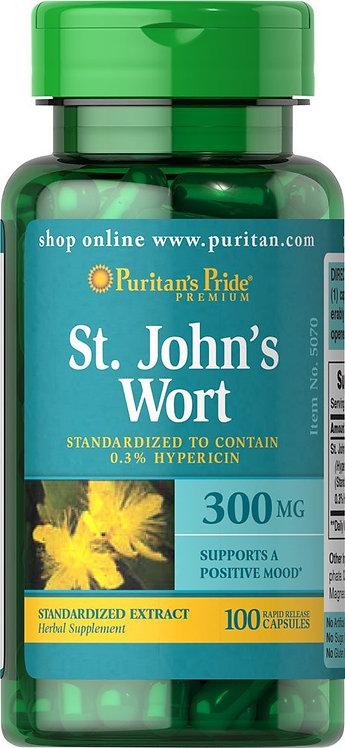 Puritan's Pride St. John's Wort 300 mg/ 100 Caps