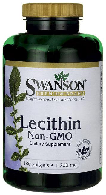 Swanson Lecithin Non-GMO-1,200 mg/ 180 Sgels