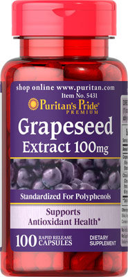 Puritan's Pride Grapeseed Extract 100 mg/ 100 Caps