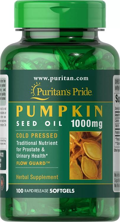 Puritan's Pride Pumpkin Seed Oil 1000 mg/ 100 Softgels