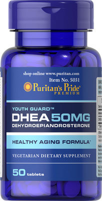 Puritan's Pride DHEA 50 mg/ 50 Tablets