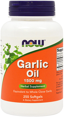 NOW® Foods Garlic Oil 1500 mg/ 250 Softgels