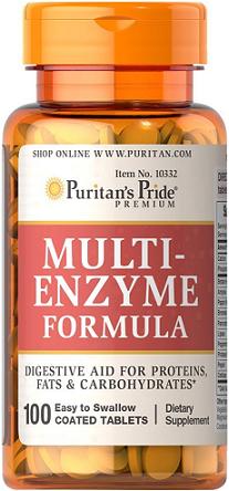Puritan's Pride Multi Enzyme/ 100 Tablets