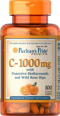 Puritan's Pride Vitamin C-1000 mg/ 100 Caplets