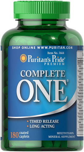 Puritan's Pride One™ Multivitamins Timed/ 180 Caps