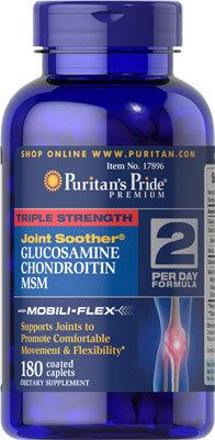 Puritan's Pride Glucosamine,Chondroitin,MSM 180 Cp