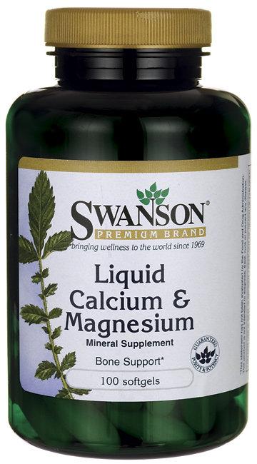 Swanson Liquid Calcium & Magnesium/ 100 Sgels