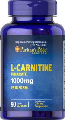 Puritan's Pride L-Carnitine 1000 mg/ 90 Caplets