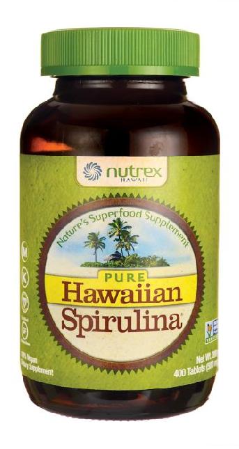 Hawaiian Spirulina 500 mg 400 Tablets