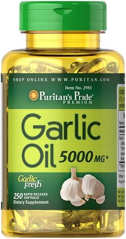Puritan's Pride Garlic Oil 5000 mg/ 250 Rapid Sgel