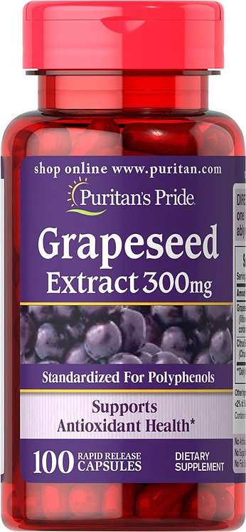 Puritan's Pride Grapeseed Extract 300 mg/ 100 Caps