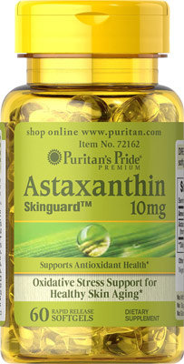 Puritan's Pride Natural Astaxanthin 10 mg/ 60 Sgel