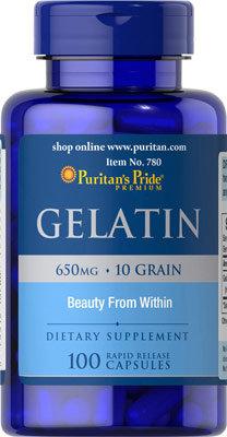 Puritan's Pride Gelatin 650 mg 100 Capsules