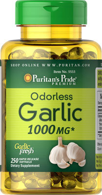 Puritan's Pride Odorless Garlic 1000 mg/ 250 Softs