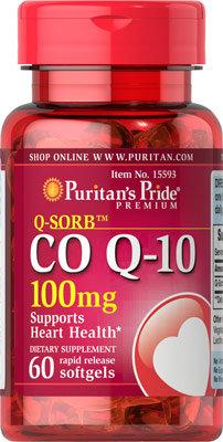 Puritan's Pride  Co Q-10 100 mg/ 60 Softgels