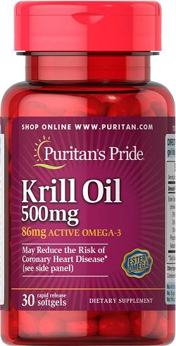 Puritan's Pride Red Krill Oil 500 mg/ 30 Softgels
