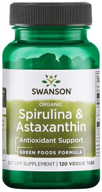 Swanson Organic Spirulina & Astaxanthin/ 120 Tabs