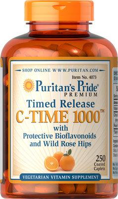Puritan's Pride Vitamin C-1000mg Time Release/250 Tabs