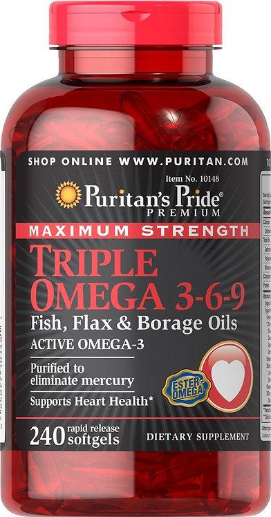 Puritan's Pride Omega 3-6-9/ 240 Softgels
