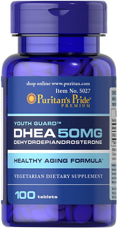 Puritan's Pride DHEA 50 mg/ 100 Tablets