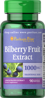 Puritan's Pride Bilberry Extract 1000 mg/90 Softs