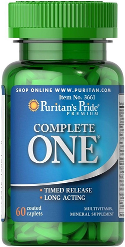 Puritan's Pride One™ Multivitamins Timed/ 60 Caps