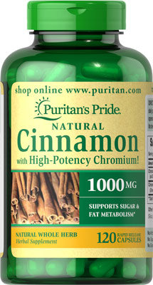 Puritan's Pride Cinnamon w/ Chromium 120 Capsules