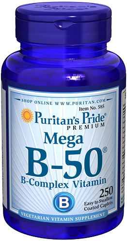 Puritan's Pride Vitamin B-50 Complex 50 mg/ 250 Cp