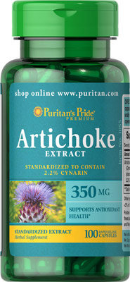 Puritan's Pride Artichoke Extract 350 mg/ 100 Caps