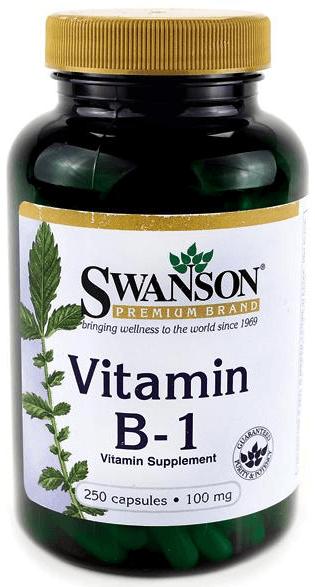 Swanson Premium Vitamin B-1 (Thiamin) 100 mg/ 250 Capsules