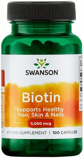 Swanson Premium Biotin 5000 mcg/ 100 Caps