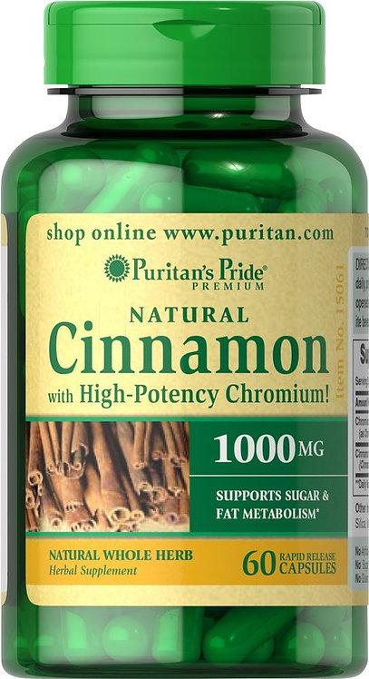 Puritan's Pride Cinnamon w/ Chromium 60 Capsules