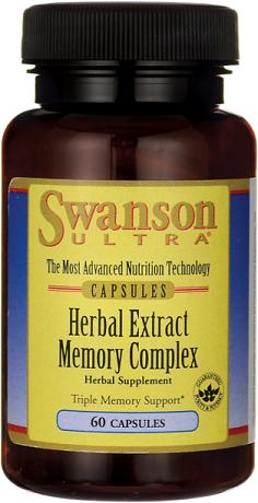 Swanson Herbal Extract Memory Complex/ 60 Caps