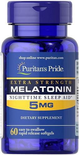 Puritan's Pride Melatonin 5 mg/ 60 Softgels