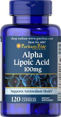 Puritan's Pride Alpha Lipoic Acid 100 mg/ 120 Caps