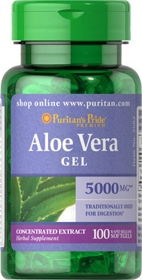 Puritan's Pride Aloe Vera Extract 25 mg/ 100 Softs
