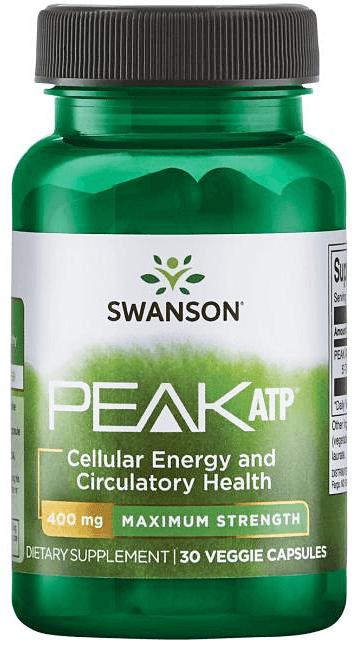Swanson Maximum Strength Peak ATP 400 mg/ 30 Vcaps