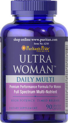 Puritan's Pride Ultra Woman™ Daily Multi/ 90 Caps