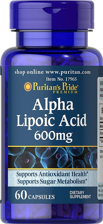 Puritan's Pride Alpha Lipoic Acid 600 mg/ 60 Caps