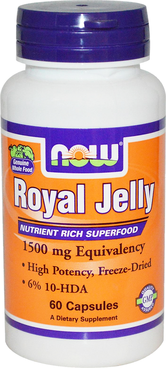 NOW® Foods Royal Jelly 1500 mg/ 60 Capsules