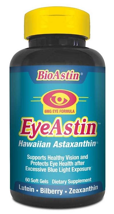 Bioastin Eyeastin Hawaiian Astaxanthin 120 Softgels