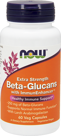 NOW® Foods Beta-Glucans+ImmunEnhancer™ 250mg/60 Cp