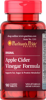 Puritan's Pride Apple Cider Vinegar Formula/ 90 Tb