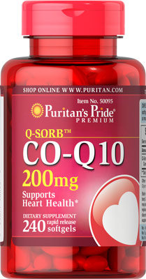 Puritan's Pride  Co Q-10 200 mg/ 240 Softgels