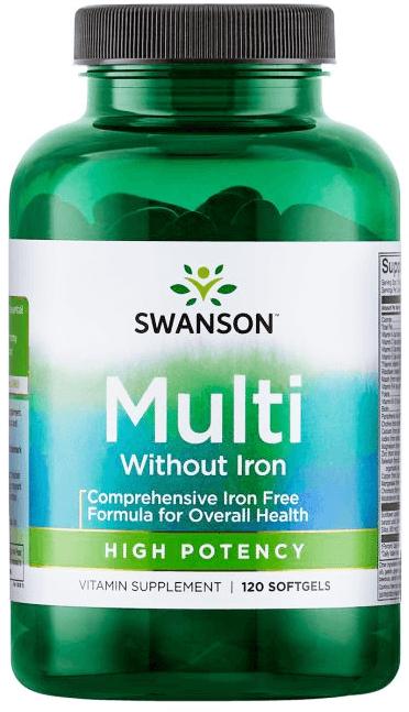 Swanson Multi Vit & Mineral/Iron Free/ 120 Sgels