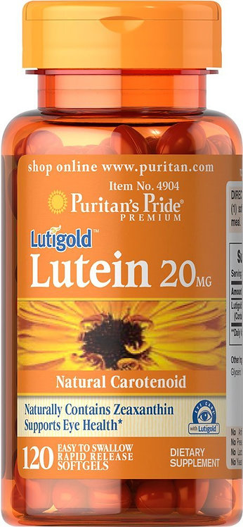 Puritan's Pride Lutein 20mg w/Zeaxanthin 120 Softs